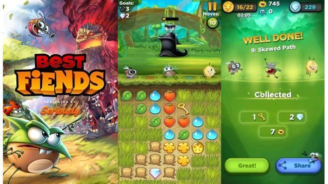 Best-Fiends-Slider логически игри за телефон