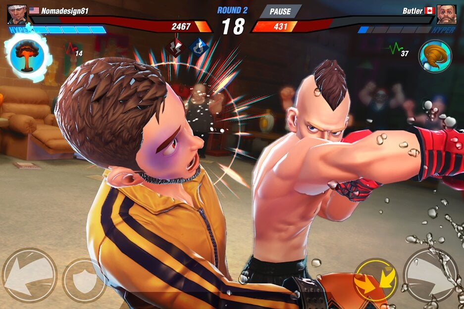 Бокс игра за телефон удар