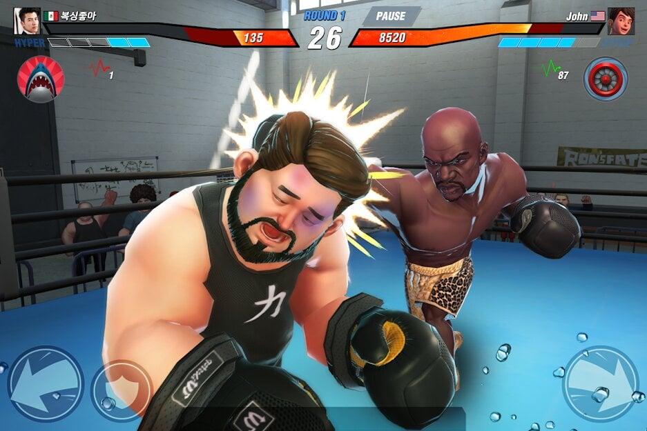 Бокс игра за телефон нокаут